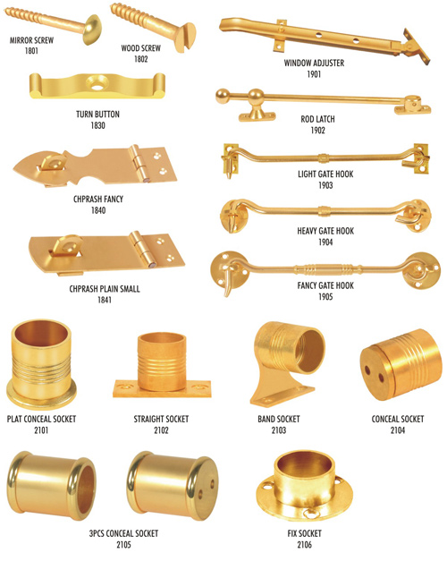 Brass Gate Hook & Other Hardware